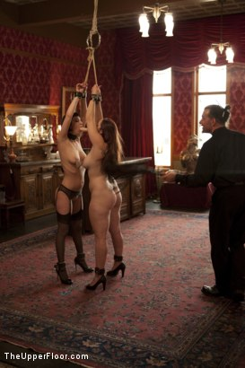 Photo number 4 from Entertaining a Master shot for The Upper Floor on Kink.com. Featuring Cherry Torn, Bella Rossi and Maestro Stefanos in hardcore BDSM & Fetish porn.