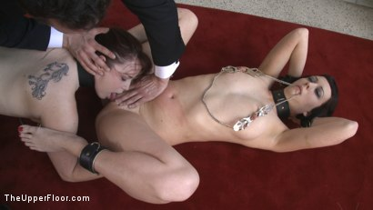 Photo number 1 from Service Session: Nipple Appreciation Day shot for The Upper Floor on Kink.com. Featuring Cherry Torn and Bella Rossi in hardcore BDSM & Fetish porn.