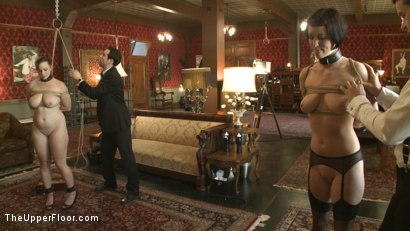 Photo number 1 from Service Session: Slaves in Bondage shot for The Upper Floor on Kink.com. Featuring Cherry Torn and Bella Rossi in hardcore BDSM & Fetish porn.