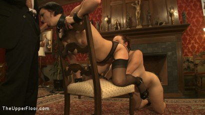 Photo number 7 from Service Session: Slaves in Bondage shot for The Upper Floor on Kink.com. Featuring Cherry Torn and Bella Rossi in hardcore BDSM & Fetish porn.