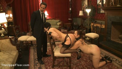 Photo number 15 from Service Session: Slaves in Bondage shot for The Upper Floor on Kink.com. Featuring Cherry Torn and Bella Rossi in hardcore BDSM & Fetish porn.