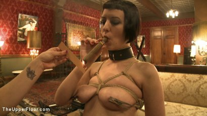 Photo number 9 from Service Session: Cigars and Bondage shot for The Upper Floor on Kink.com. Featuring Cherry Torn and Bella Rossi in hardcore BDSM & Fetish porn.