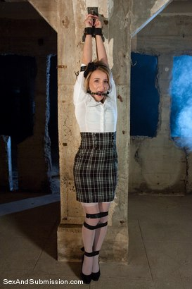 Photo number 1 from Helpless Slut shot for Sex And Submission on Kink.com. Featuring Jessie Cox and Steve Holmes in hardcore BDSM & Fetish porn.