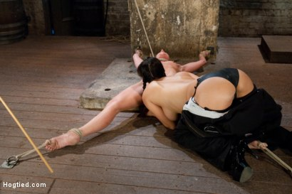 Photo number 1 from Part 2 of 4 of the<br> April Live show! shot for Hogtied on Kink.com. Featuring Ariel X and Isis Love in hardcore BDSM & Fetish porn.
