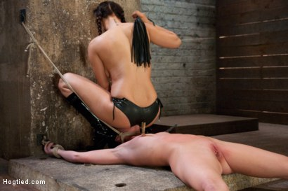 Photo number 6 from Part 2 of 4 of the<br> April Live show! shot for Hogtied on Kink.com. Featuring Ariel X and Isis Love in hardcore BDSM & Fetish porn.