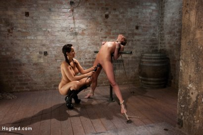 Photo number 2 from Part 3 of 4 of the <br>April Live show! shot for Hogtied on Kink.com. Featuring Ariel X and Isis Love in hardcore BDSM & Fetish porn.