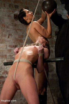 Photo number 6 from Part 3 of 4 of the <br>April Live show! shot for Hogtied on Kink.com. Featuring Ariel X and Isis Love in hardcore BDSM & Fetish porn.