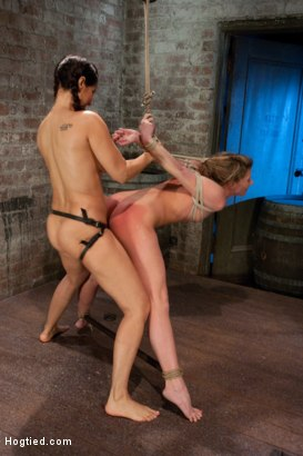 Photo number 12 from Part 4 of 4 of the April Live show! shot for Hogtied on Kink.com. Featuring Ariel X and Isis Love in hardcore BDSM & Fetish porn.