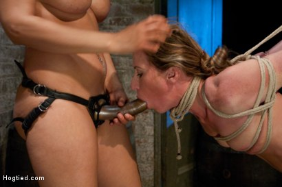 Photo number 5 from Part 4 of 4 of the April Live show! shot for Hogtied on Kink.com. Featuring Ariel X and Isis Love in hardcore BDSM & Fetish porn.