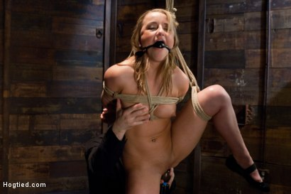 Photo number 2 from The End of An Era: Lochai's Last Shoot shot for Hogtied on Kink.com. Featuring Jessie Cox in hardcore BDSM & Fetish porn.