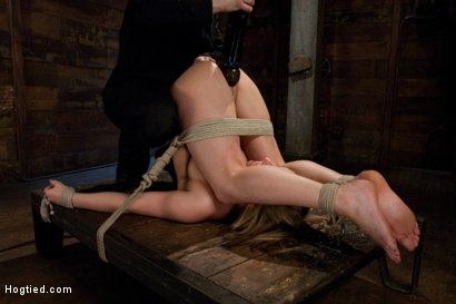 Photo number 8 from The End of An Era: Lochai's Last Shoot shot for Hogtied on Kink.com. Featuring Jessie Cox in hardcore BDSM & Fetish porn.