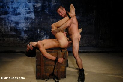 Photo number 9 from American Graffiti shot for Bound Gods on Kink.com. Featuring Nick Moretti and Josh Slyman in hardcore BDSM & Fetish porn.