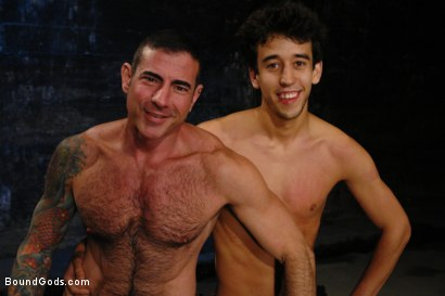 Photo number 15 from American Graffiti shot for Bound Gods on Kink.com. Featuring Nick Moretti and Josh Slyman in hardcore BDSM & Fetish porn.
