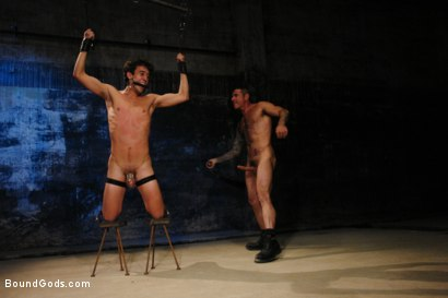 Photo number 7 from American Graffiti shot for Bound Gods on Kink.com. Featuring Nick Moretti and Josh Slyman in hardcore BDSM & Fetish porn.
