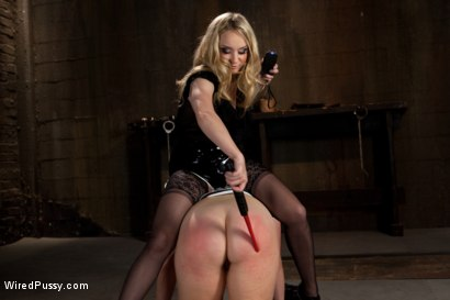 Photo number 6 from Big Tits Bound and Shocked shot for wiredpussy on Kink.com. Featuring Sierra Skye and Aiden Starr in hardcore BDSM & Fetish porn.