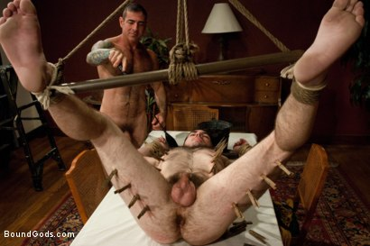 Photo number 11 from The Reynolds shot for Bound Gods on Kink.com. Featuring Nick Moretti and Colton Steele in hardcore BDSM & Fetish porn.