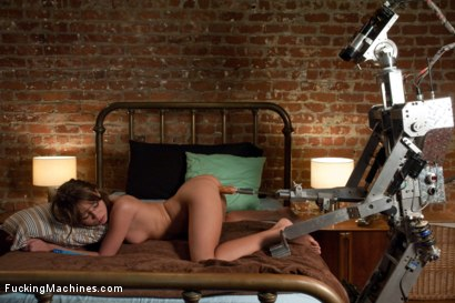 Photo number 10 from A FUCKINGMACHINES CLASSIC SHOOT <BR> Charlie Sheen's Girl with Our Robot shot for Fucking Machines on Kink.com. Featuring Capri Anderson in hardcore BDSM & Fetish porn.