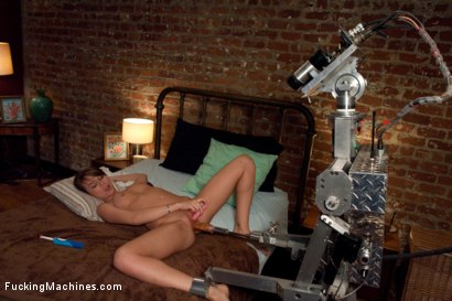 Photo number 11 from A FUCKINGMACHINES CLASSIC SHOOT <BR> Charlie Sheen's Girl with Our Robot shot for Fucking Machines on Kink.com. Featuring Capri Anderson in hardcore BDSM & Fetish porn.