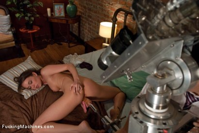 Photo number 8 from A FUCKINGMACHINES CLASSIC SHOOT <BR> Charlie Sheen's Girl with Our Robot shot for Fucking Machines on Kink.com. Featuring Capri Anderson in hardcore BDSM & Fetish porn.