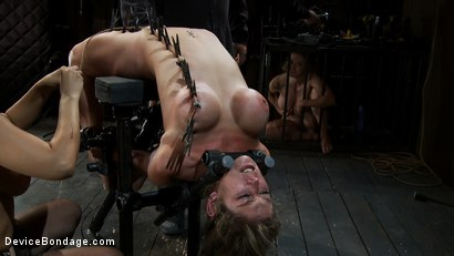 Photo number 7 from Part 3 of 4 of the <br>April Live show. shot for Device Bondage on Kink.com. Featuring Felony, Isis Love and Dee Williams in hardcore BDSM & Fetish porn.