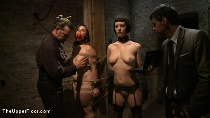 Photo number 12 from Service Session: Tour the Armory Part 2 shot for The Upper Floor on Kink.com. Featuring Cherry Torn, Bella Rossi, Maestro Stefanos and Nerine Mechanique in hardcore BDSM & Fetish porn.