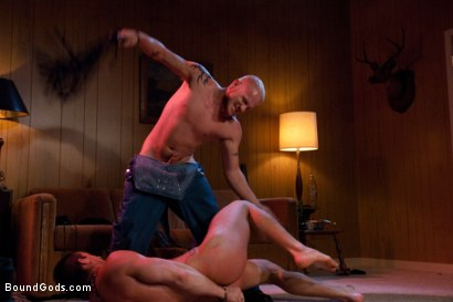 Photo number 3 from Hicksville shot for Bound Gods on Kink.com. Featuring Luke Riley and Phenix Saint in hardcore BDSM & Fetish porn.