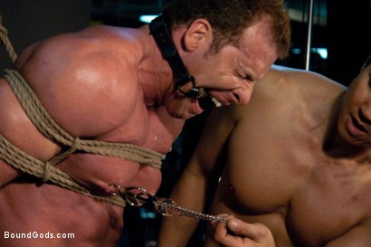 Photo number 7 from Bound Gods visit Steamworks shot for Bound Gods on Kink.com. Featuring Tommy Defendi, Nick Moretti, Drake Jaden and Derek Pain in hardcore BDSM & Fetish porn.