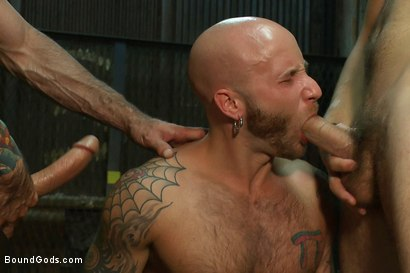 Photo number 11 from Bound Gods visit Steamworks shot for Bound Gods on Kink.com. Featuring Tommy Defendi, Nick Moretti, Drake Jaden and Derek Pain in hardcore BDSM & Fetish porn.
