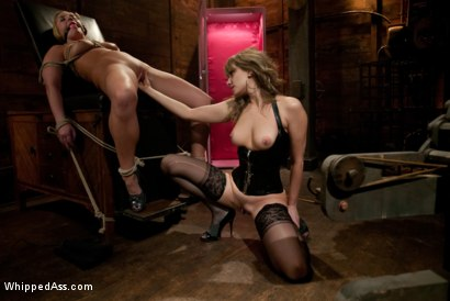 Photo number 12 from Marina Babe shot for Whipped Ass on Kink.com. Featuring Aurora Snow and Maitresse Madeline Marlowe in hardcore BDSM & Fetish porn.
