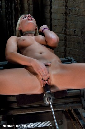 Photo number 12 from Blond Ambition shot for Fucking Machines on Kink.com. Featuring Jamey Janes in hardcore BDSM & Fetish porn.