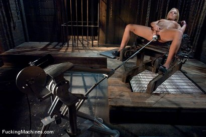 Photo number 6 from Blond Ambition shot for Fucking Machines on Kink.com. Featuring Jamey Janes in hardcore BDSM & Fetish porn.