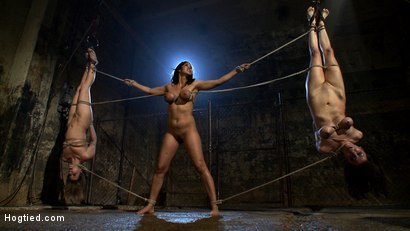"Maitresse Madeline, Princess Donna and Isis love., captured & bound. The ""Daddy's Back"" trailer."