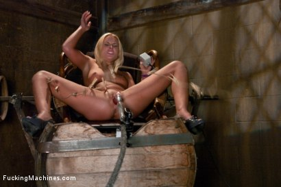 Photo number 7 from Upstairs Sybian, Downstairs Snake <br> Double Updates shot for Fucking Machines on Kink.com. Featuring Jamey Janes in hardcore BDSM & Fetish porn.