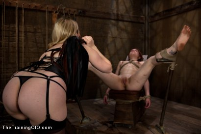 Photo number 5 from The Training of Juliette, Day Three shot for The Training Of O on Kink.com. Featuring Juliette March and Aiden Starr in hardcore BDSM & Fetish porn.