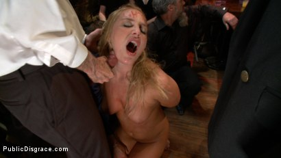 Photo number 4 from Beautiful Blonde Disgraced in Public shot for Public Disgrace on Kink.com. Featuring James Deen and Aurora Snow in hardcore BDSM & Fetish porn.