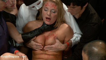 Photo number 2 from Beautiful Blonde Disgraced in Public shot for Public Disgrace on Kink.com. Featuring James Deen and Aurora Snow in hardcore BDSM & Fetish porn.