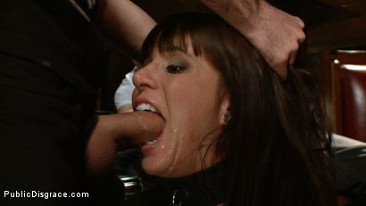 Photo number 3 from Gia DiMarco gets Double Penetrated at a Public Bar shot for Public Disgrace on Kink.com. Featuring James Deen and Gia DiMarco in hardcore BDSM & Fetish porn.
