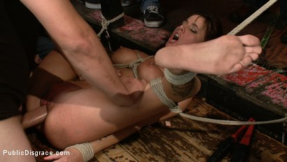 Photo number 11 from Gia DiMarco gets Double Penetrated at a Public Bar shot for Public Disgrace on Kink.com. Featuring James Deen and Gia DiMarco in hardcore BDSM & Fetish porn.