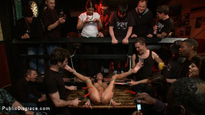 Photo number 1 from Gia DiMarco gets Double Penetrated at a Public Bar shot for Public Disgrace on Kink.com. Featuring James Deen and Gia DiMarco in hardcore BDSM & Fetish porn.