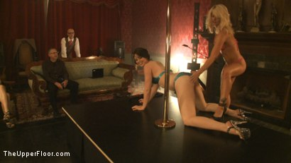 Photo number 4 from Upper Floor Pole Party shot for The Upper Floor on Kink.com. Featuring Cherry Torn, Bella Rossi, Hollie Stevens, Sarah Shevon and Holly Heart in hardcore BDSM & Fetish porn.