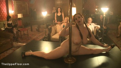 Photo number 1 from Upper Floor Pole Party shot for The Upper Floor on Kink.com. Featuring Cherry Torn, Bella Rossi, Hollie Stevens, Sarah Shevon and Holly Heart in hardcore BDSM & Fetish porn.