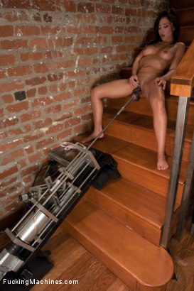 Photo number 2 from Hard Day's Night <br> machine fucking to unwind shot for Fucking Machines on Kink.com. Featuring Lana Lopez in hardcore BDSM & Fetish porn.