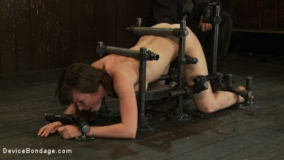 Photo number 10 from OMEGA fucks another tiny brunette into sub space! shot for Device Bondage on Kink.com. Featuring Seda in hardcore BDSM & Fetish porn.