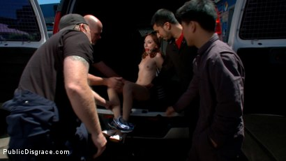 Photo number 3 from Do You Know Where Your Daughter Is? shot for Public Disgrace on Kink.com. Featuring Mark Davis and Emma Haize in hardcore BDSM & Fetish porn.