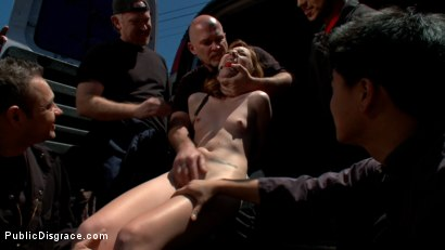 Photo number 4 from Do You Know Where Your Daughter Is? shot for Public Disgrace on Kink.com. Featuring Mark Davis and Emma Haize in hardcore BDSM & Fetish porn.