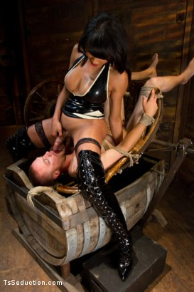 Photo number 2 from Silence is denial shot for TS Seduction on Kink.com. Featuring Yasmin Lee and Rocky in hardcore BDSM & Fetish porn.