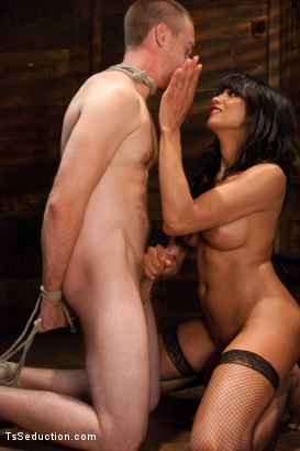 Photo number 11 from Silence is denial shot for TS Seduction on Kink.com. Featuring Yasmin Lee and Rocky in hardcore BDSM & Fetish porn.