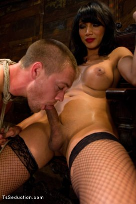 Photo number 7 from Silence is denial shot for TS Seduction on Kink.com. Featuring Yasmin Lee and Rocky in hardcore BDSM & Fetish porn.