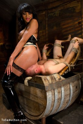 Photo number 4 from Silence is denial shot for TS Seduction on Kink.com. Featuring Yasmin Lee and Rocky in hardcore BDSM & Fetish porn.