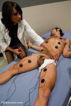 Photo number 2 from Experimental Clinic shot for TS Seduction on Kink.com. Featuring Yasmin Lee and Reuven in hardcore BDSM & Fetish porn.